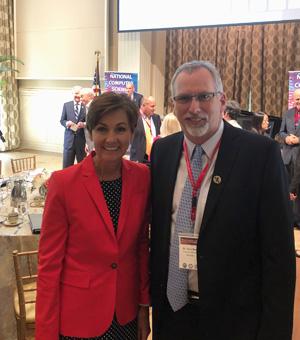 Dr. David Reed and Arkansas Governor Asa Hutchinson