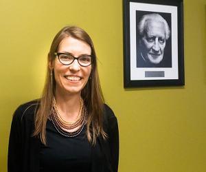 Laura Heinemann, PhD in Markoe-Deporres room
