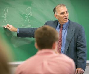 Jeffrey Hause, Ph.D., in classroom