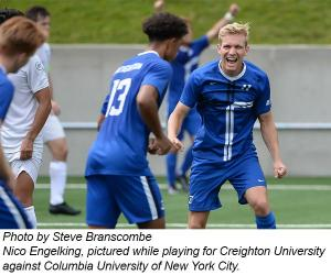 Photo by Steve Branscombe  Nico Engelking, pictured while playing for Creighton University against Columbia University of New York City.