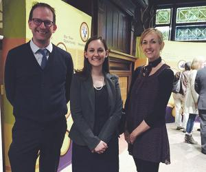 Simon Appleford, Rachel Slagle and Heather Fryer at Union Pacific exhibit opening