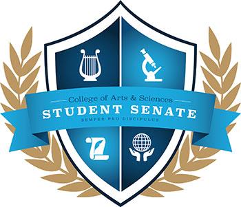 """CCAS Student Senate Logo - \""""semper pro discipulus"""""""