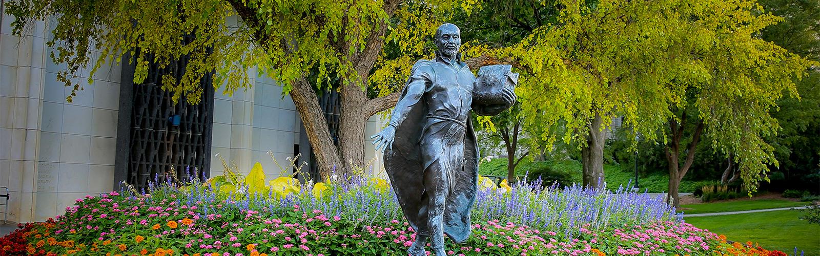 Ignatian Statue on Creighton University campus in Omaha, NE