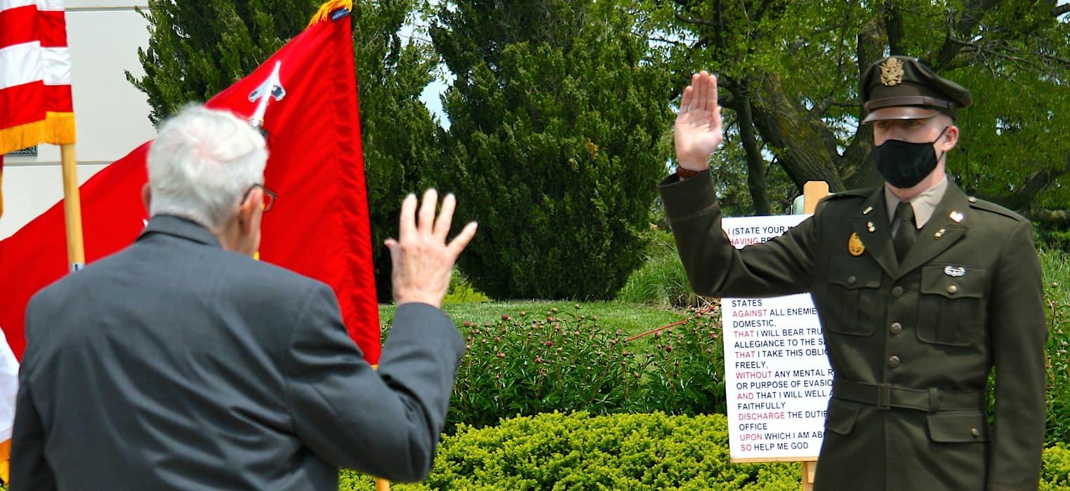 Timothy Arndt Taking Oath