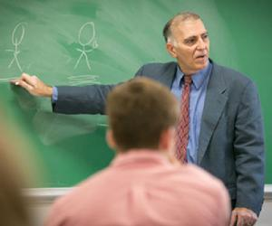 Jeffrey Hause, Ph.D., in classroom